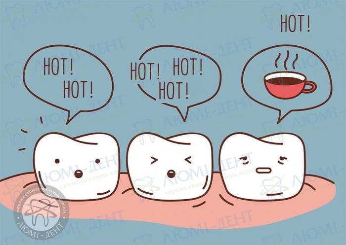 Зуб болить від гарячого фото ЛюміДент