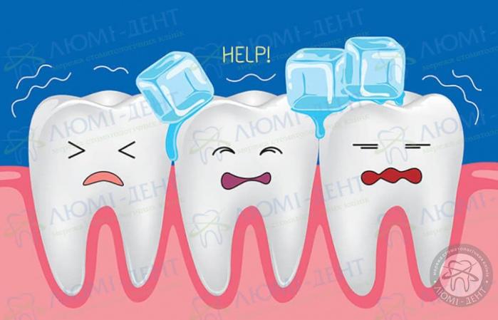 Чувствительность зубов к холодному фото ЛюмиДент