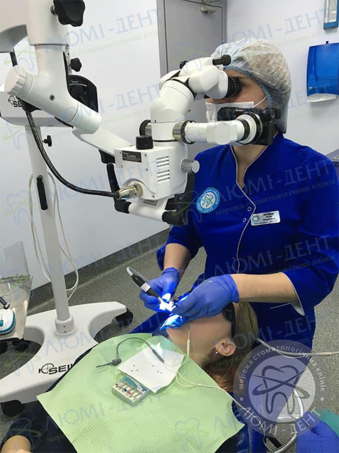 Зміцнення емалі зубів вдома фото ЛюміДент