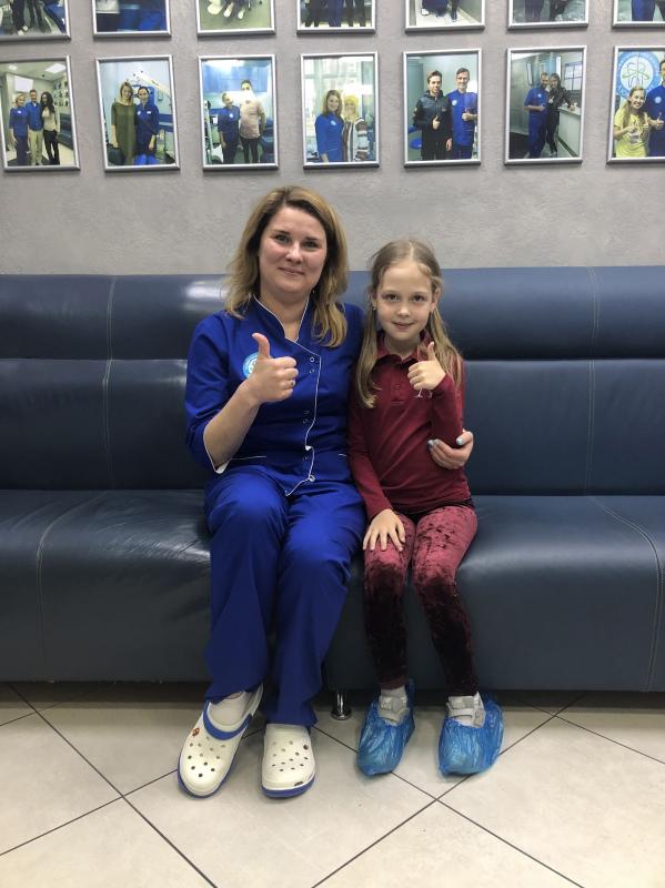 Серебрение молочных зубов детям Киев фото Люми-Дент