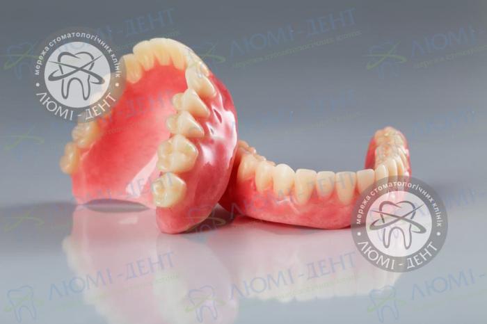 Полные съемные протезы зубов фото Люмидент