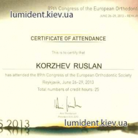 сертификат Коржев Руслан