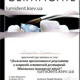 Сертификат Мирзоян Тигран Нерсикович