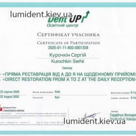 Сертификат Курочкин Сергей Игоревич Киев Люми-Дент
