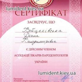 Сертификат Мирошниченко Диана Владимировна
