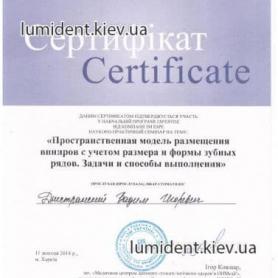 сертификат, доктор Днестранский Вадим