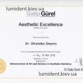 сертификат, стоматолог Скрицкий Дмитрий