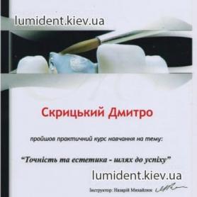 сертификат, Скрицкий Дмитрий Владимирович