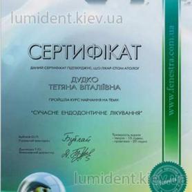 сертификат, киев Дудко Татьяна