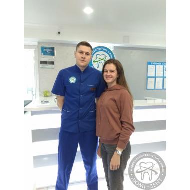 Фото с врачом Курочкин С.И. процесс работы
