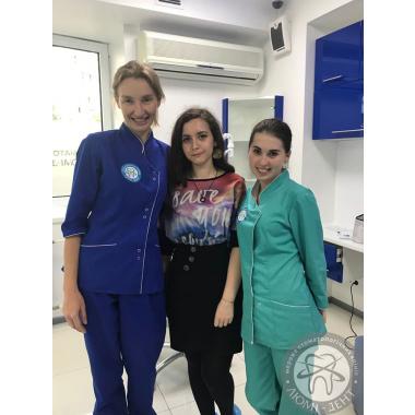 Фото з лікарем  Лещук О. О. Киев Люми-Дент