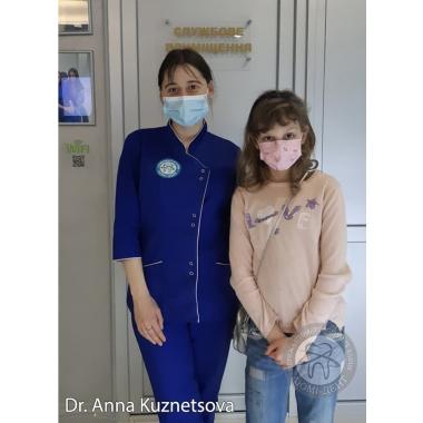 Ортодонт Кузнецова Анна с пациенткой клиники Люми-Дент