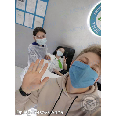 Ортодонт Кузнецова Анна с пациентом клиники Люми-Дент