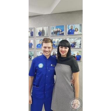 Фото с врачом Новицкий Вадим Валерьевич Киев Люми-Дент