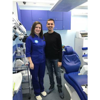 Фото с врачом Лебедева Е. И. Киев Люми-Дент