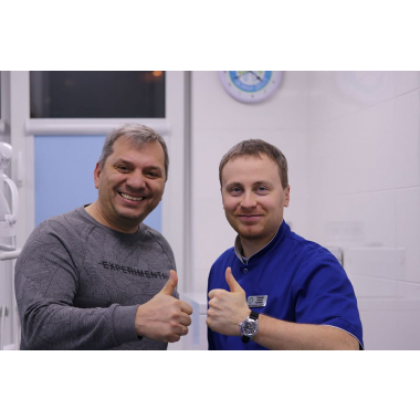 Фото с врачом Глушко Алексей Сергеевич Люми-Дент